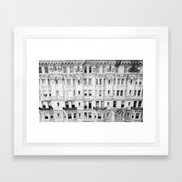 BROAD STREET. Framed Art Print