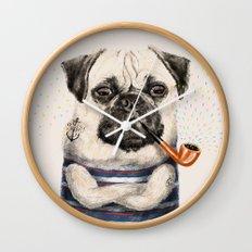 Mr.Pug Wall Clock