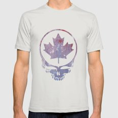 Canadian Steal Your Face (variation #3) Mens Fitted Tee Silver SMALL
