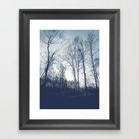 Blue Vanilla Framed Art Print