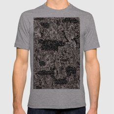 The Wonderful Plague Mens Fitted Tee Athletic Grey SMALL
