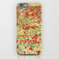 Windy poppies. Spring fields iPhone 6 Slim Case