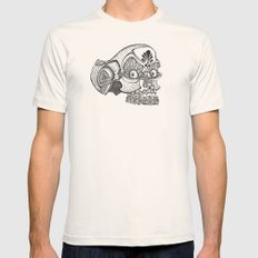 Morte the Skull Mens Fitted Tee Natural SMALL