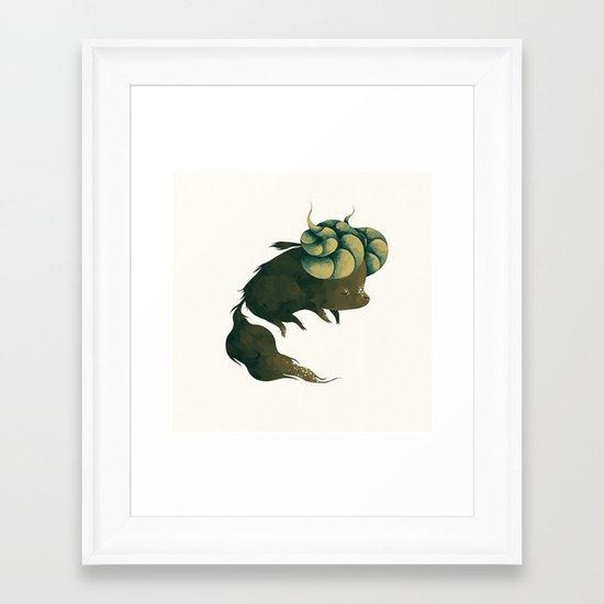 le noireau Framed Art Print