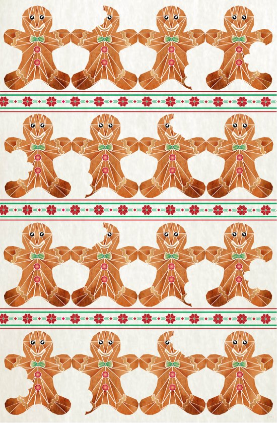 gingerbread man Canvas Print