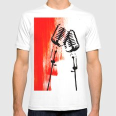 Lets Duet White SMALL Mens Fitted Tee