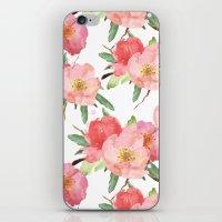 Pretty Pink Garden Flowe… iPhone & iPod Skin