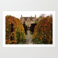 Barnsley House In Autumn Art Print