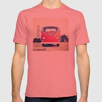 Vintage Volkswagen Bus Mens Fitted Tee Pomegranate SMALL