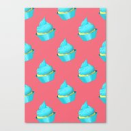 Canvas Print featuring Cupcake by Tiffato3