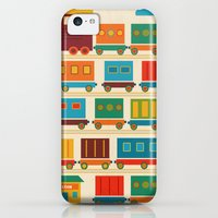 iPhone 5c Cases featuring Train by Kakel