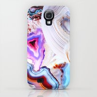 Galaxy S4 Cases featuring Agate, a vivid Metamorphic rock on Fire by Elena Kulikova