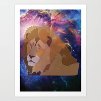 The Lion Is High Art Print
