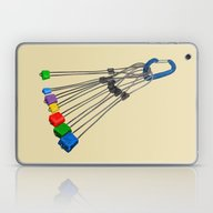 Rock Climbing Wires Laptop & iPad Skin