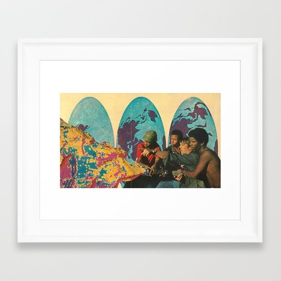 spread it all around Framed Art Print