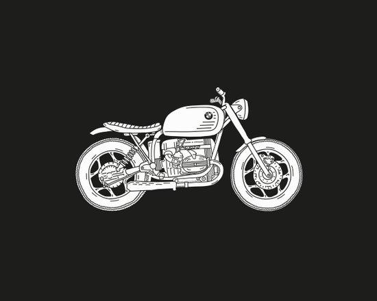 BMW R80 - Cafe Racer series #4 Art Print