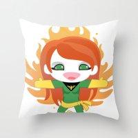 X-man Jean Grey 'Phoenix' Robotic Throw Pillow