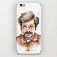 Swanson Love Valentine Portrait iPhone & iPod Skin