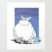 The Cat That Got The Cream Art Print