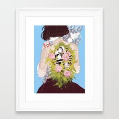 Strawberry Milk Framed Art Print