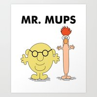 Mr Mups Art Print
