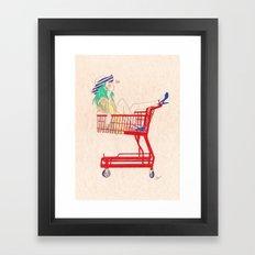 shopping is fun Framed Art Print