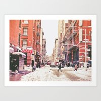 New York City Snow in Soho Art Print