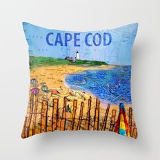 Summer down the Cape Throw Pillow