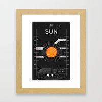OMG SPACE: Sun 1960 - 20… Framed Art Print