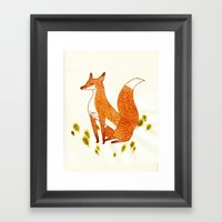 Noble Fox Framed Art Print