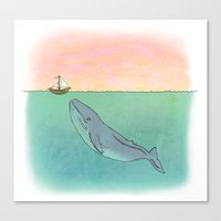 Gentle Whale  Canvas Print