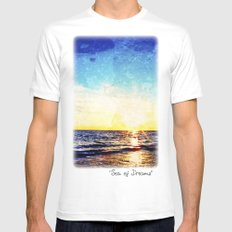 Sea of Dreams White Mens Fitted Tee SMALL