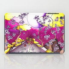 live life in bloom iPad Case
