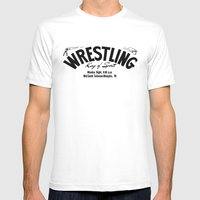 Wrestling Logo From Deca… Mens Fitted Tee White SMALL