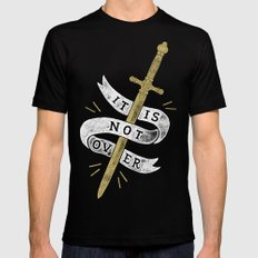 It Is Not Over SMALL Mens Fitted Tee Black