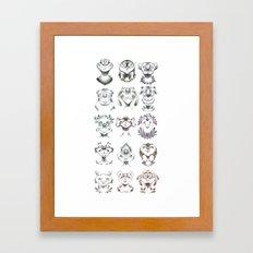 Monster Heads Framed Art Print