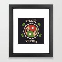 Ping Pong Framed Art Print