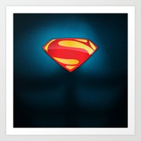 Man Of Steel Suit Art Print