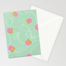 Raspberry Patch Aqua Stationery Cards