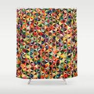 Star Cubes Geometric Art… Shower Curtain