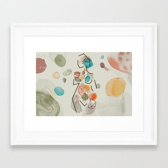 God Creates Woman for Man (by Anne Ulku) Framed Art Print
