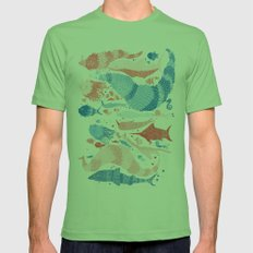 Under the sea Mens Fitted Tee Grass SMALL