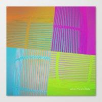 Di-simetrías Color Canvas Print