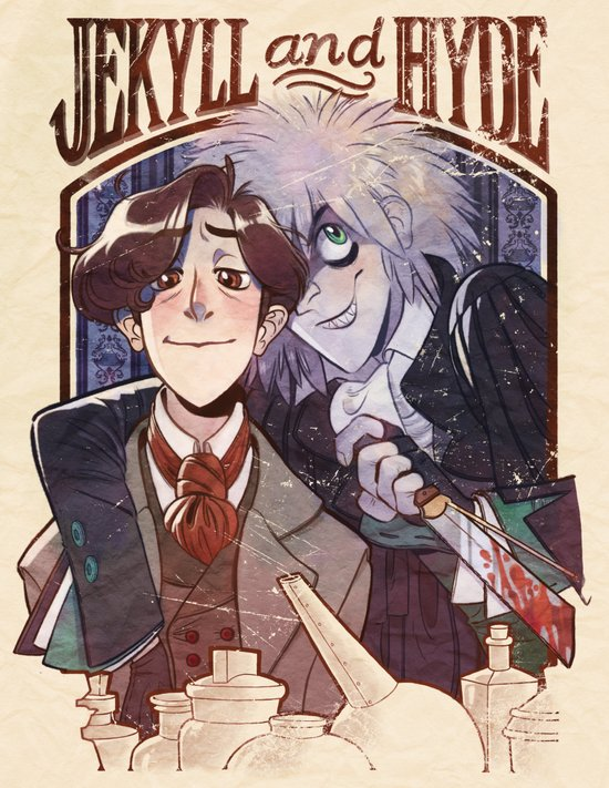 Jekyll and Hyde Portrait(s) Art Print