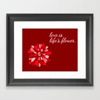 Love Is / Hearts Galore Framed Art Print