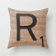 Tile R Throw Pillow