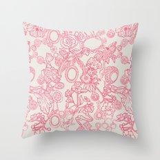 Charming Pink Throw Pillow