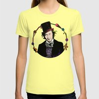 Merry Christmas From The Chocolate Factory Womens Fitted Tee Lemon SMALL