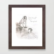 A Dip in the Styx Framed Art Print