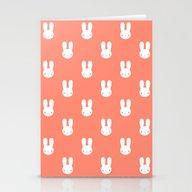 Rabbit Pink Stationery Cards
